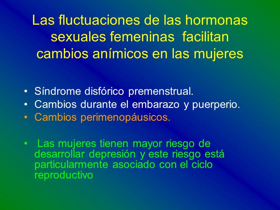 Las fluctuaciones de las hormonas sexuales femeninas facilitan cambios anímicos en las mujeres
