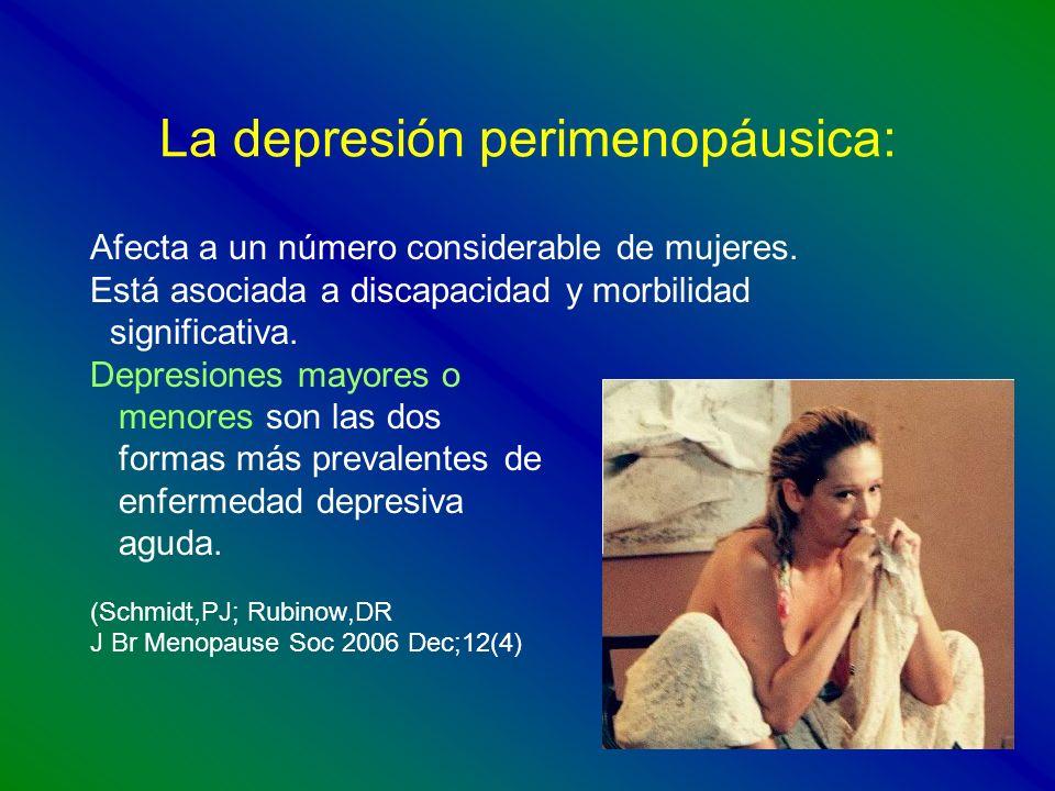 La depresión perimenopáusica: