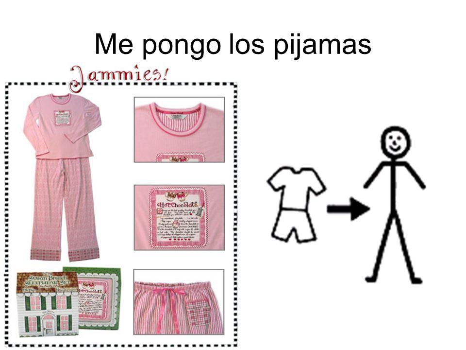 Me pongo los pijamas