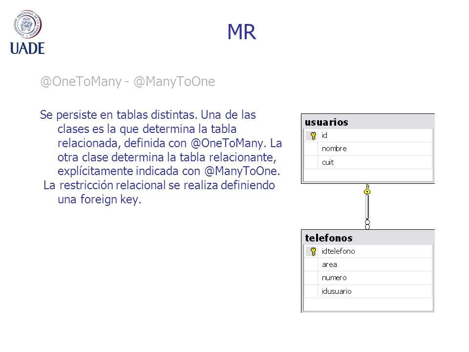 MR @OneToMany - @ManyToOne
