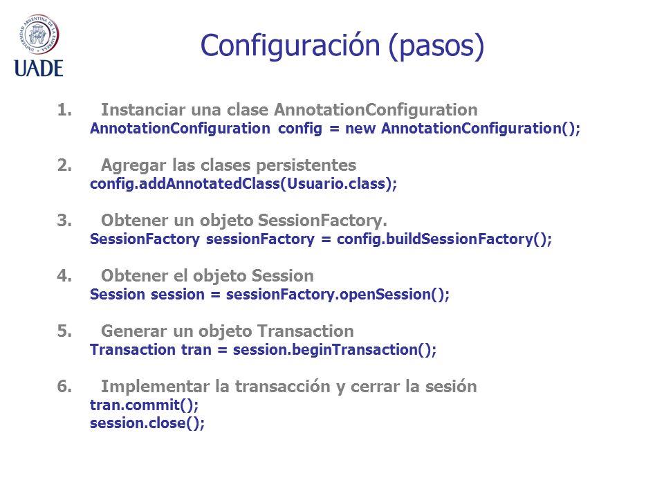 Configuración (pasos)