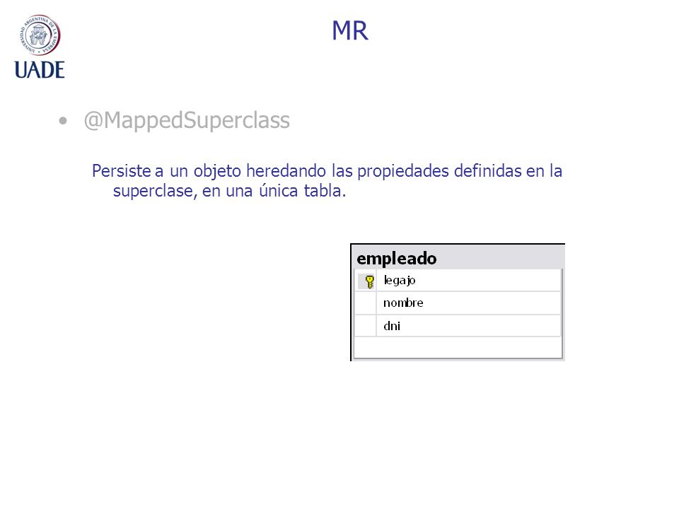 MR @MappedSuperclass.