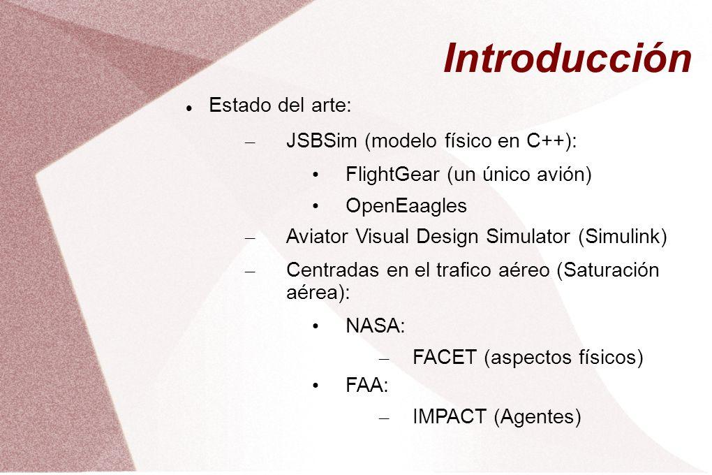 Introducción Estado del arte: JSBSim (modelo físico en C++):