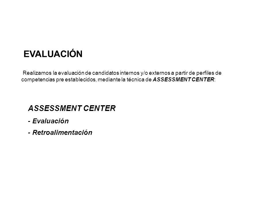 EVALUACIÓN ASSESSMENT CENTER - Evaluación - Retroalimentación
