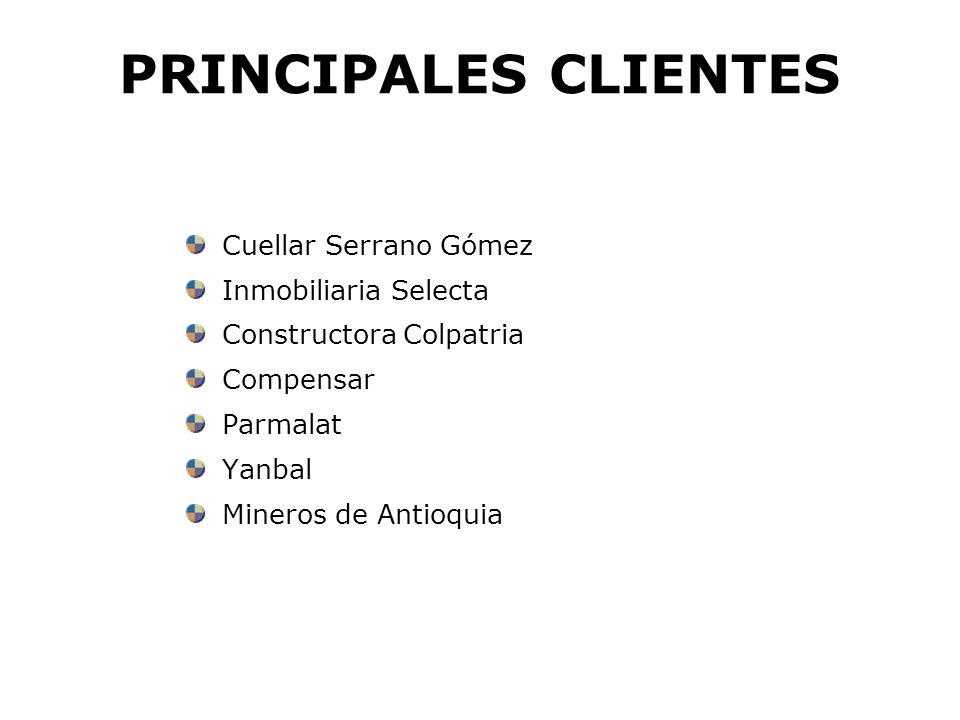PRINCIPALES CLIENTES Cuellar Serrano Gómez Inmobiliaria Selecta