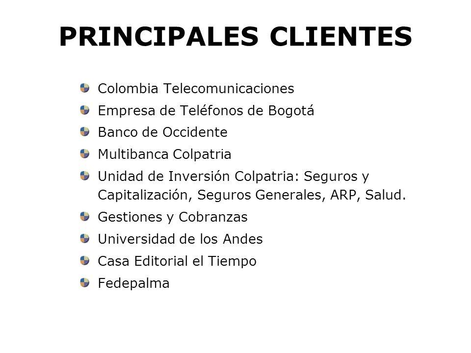 PRINCIPALES CLIENTES Colombia Telecomunicaciones