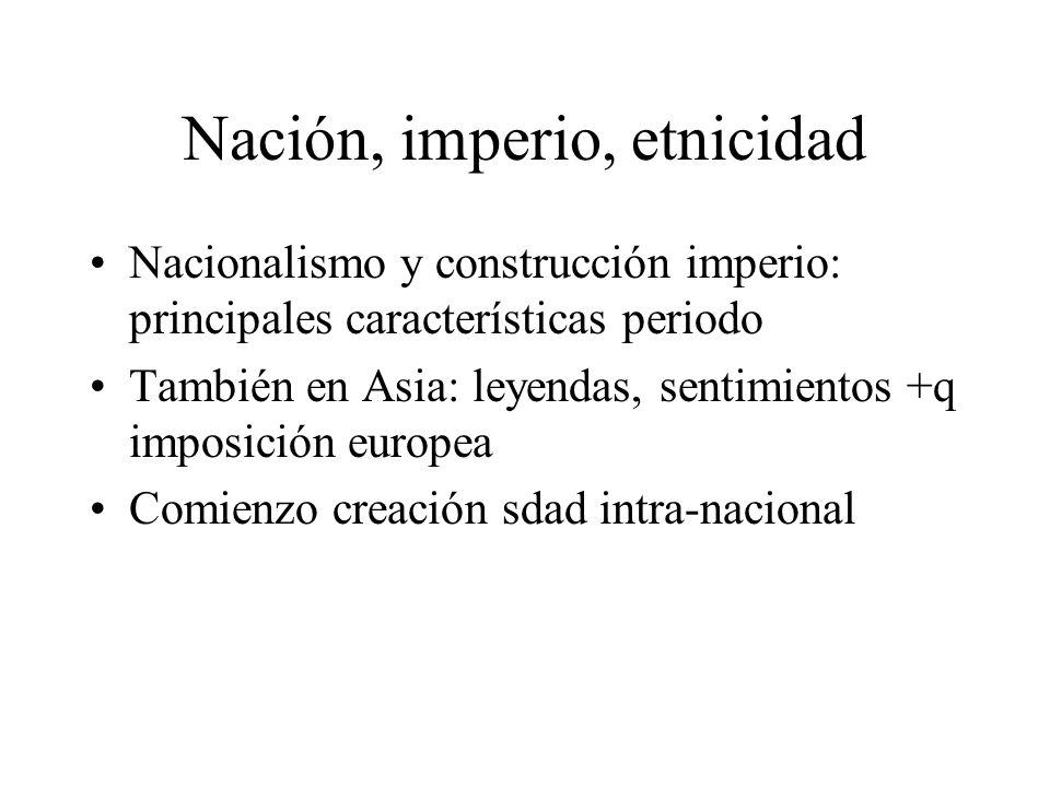Nación, imperio, etnicidad