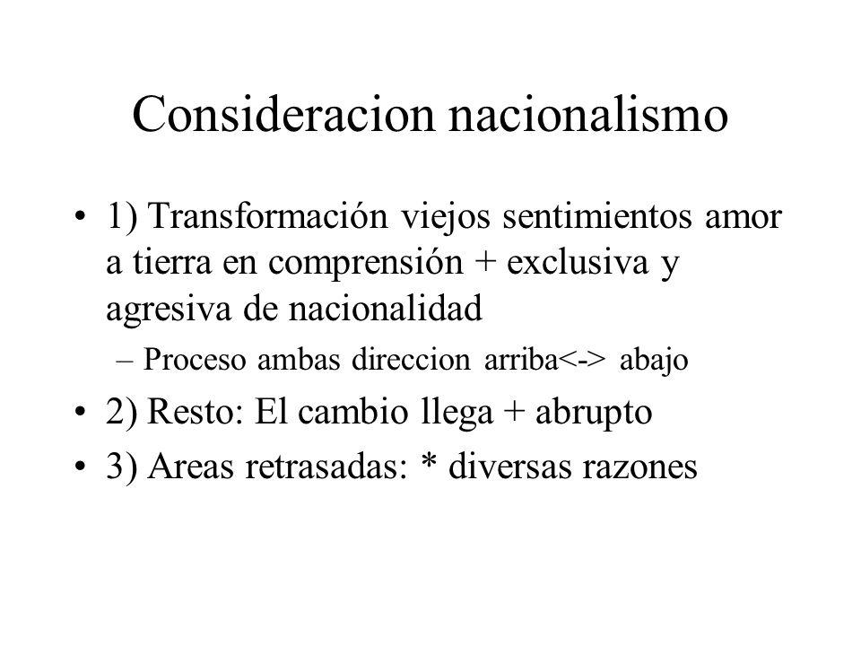 Consideracion nacionalismo