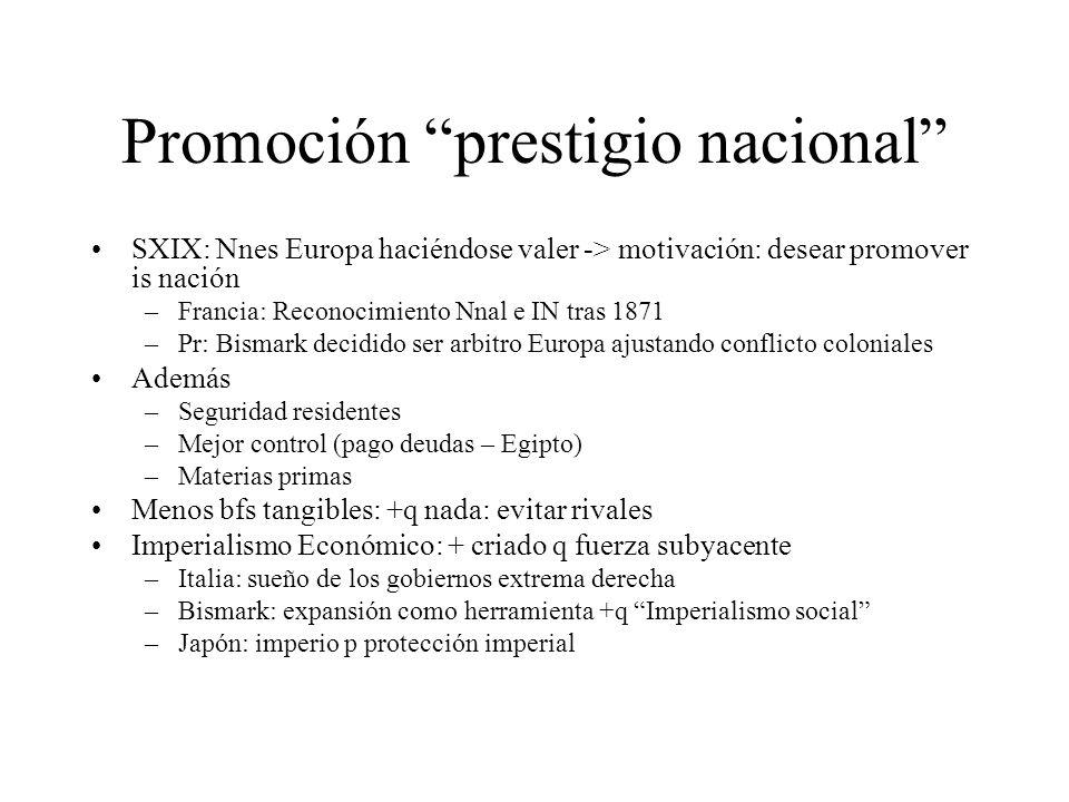 Promoción prestigio nacional