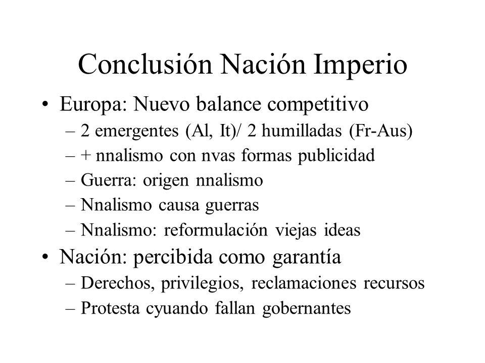 Conclusión Nación Imperio