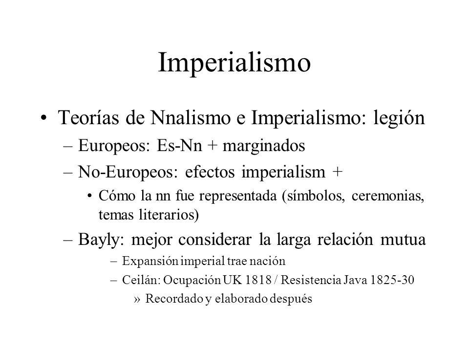 Imperialismo Teorías de Nnalismo e Imperialismo: legión