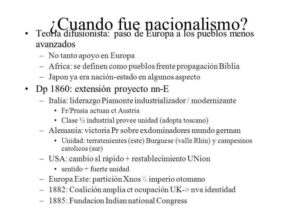 ¿Cuando fue nacionalismo