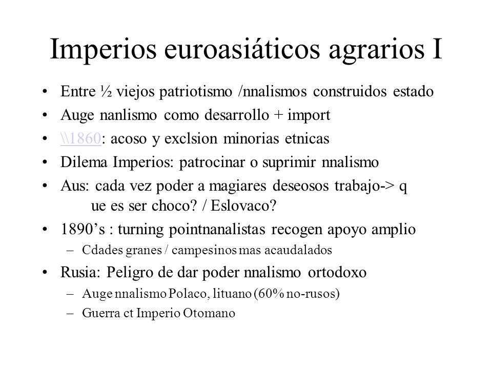 Imperios euroasiáticos agrarios I