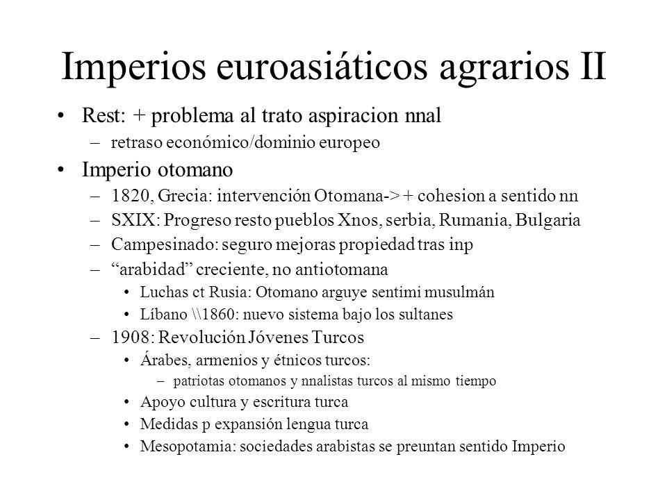 Imperios euroasiáticos agrarios II