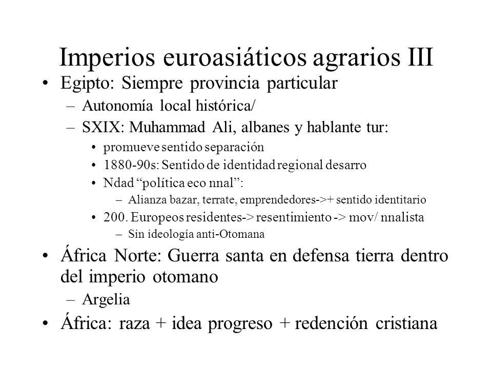 Imperios euroasiáticos agrarios III