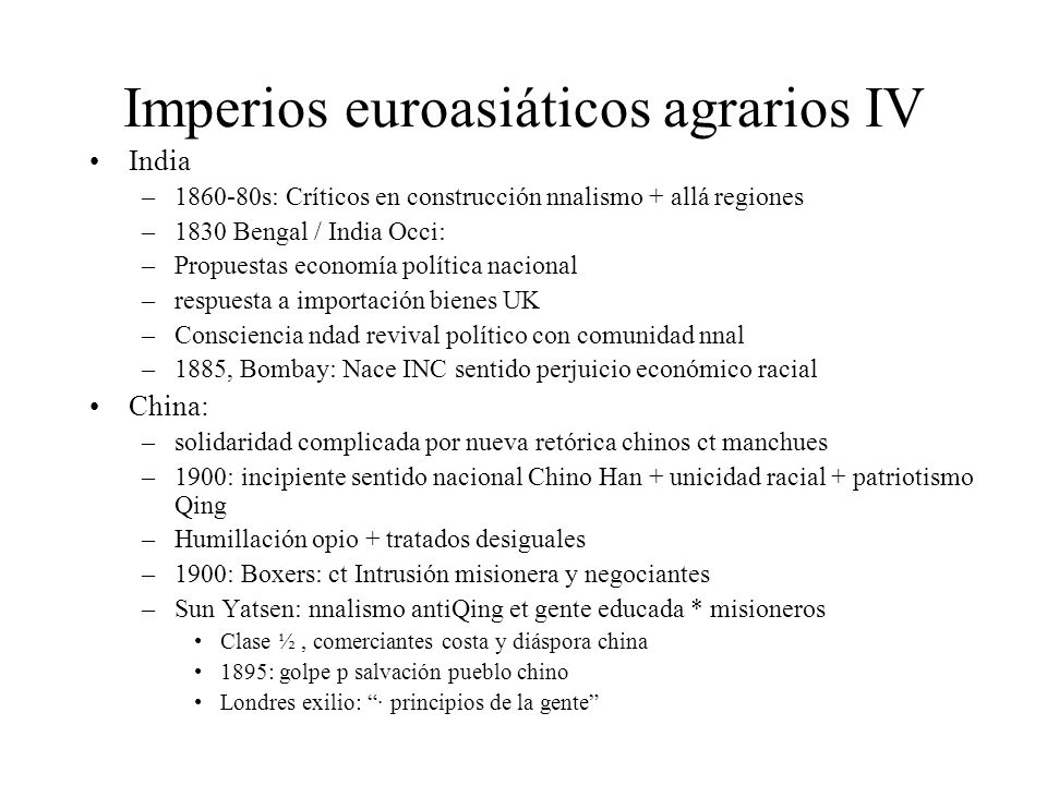 Imperios euroasiáticos agrarios IV
