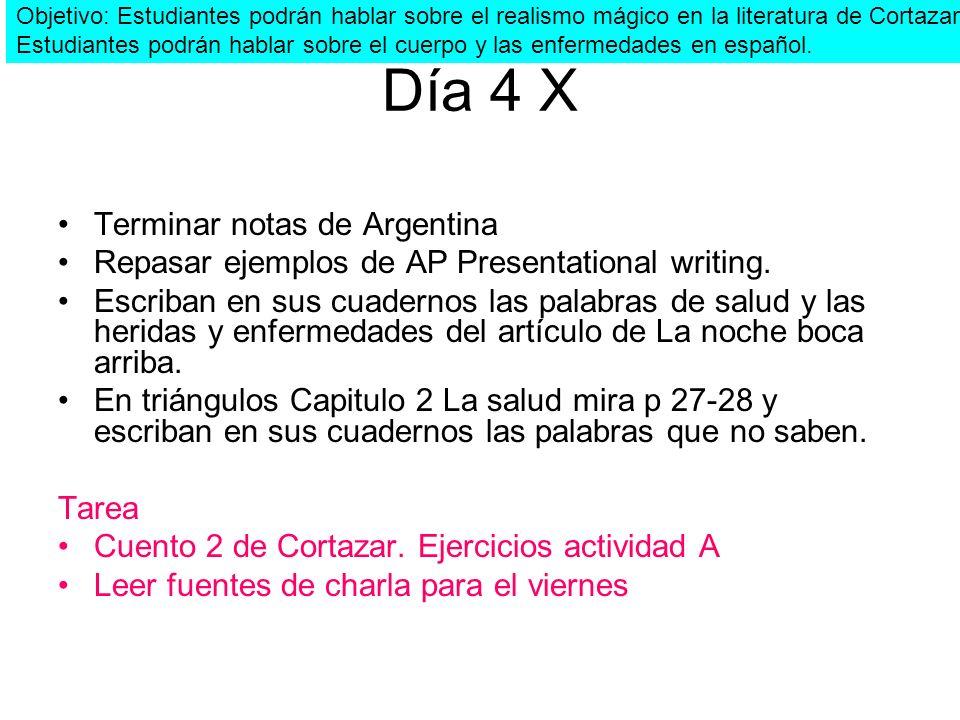 Día 4 X Terminar notas de Argentina