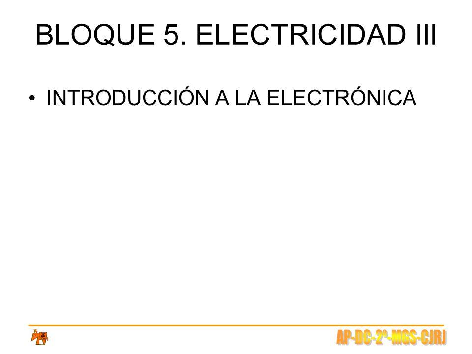 BLOQUE 5. ELECTRICIDAD III