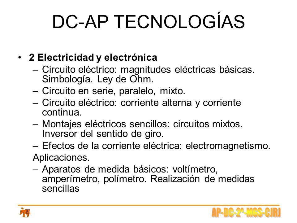 DC-AP TECNOLOGÍAS 2 Electricidad y electrónica