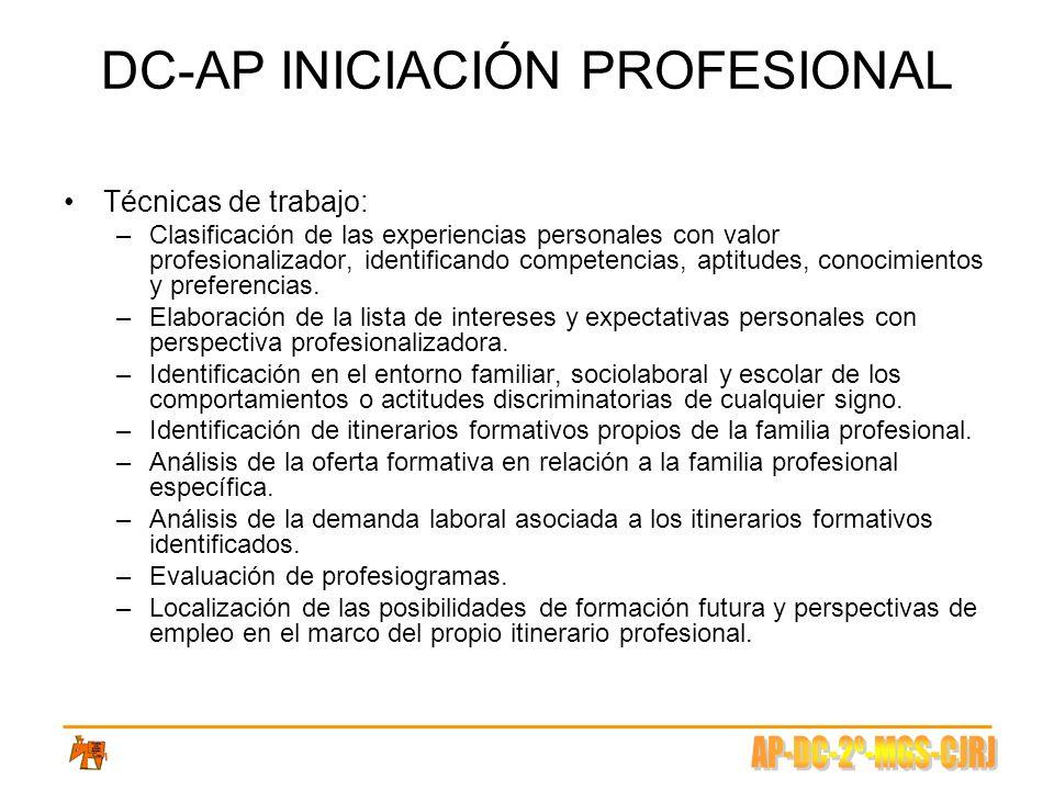 DC-AP INICIACIÓN PROFESIONAL