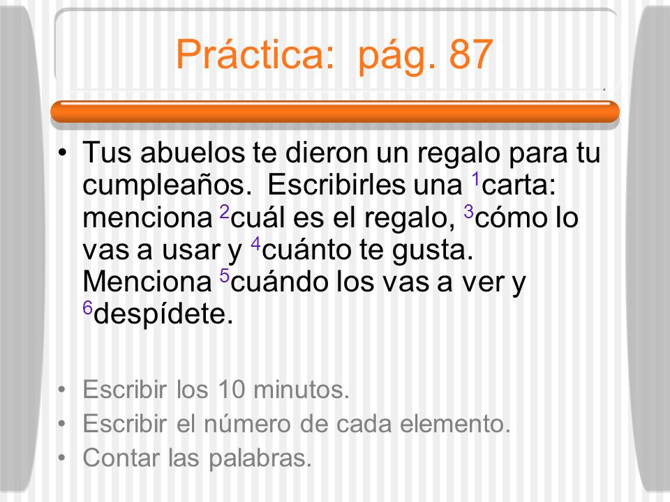 Práctica: pág. 87