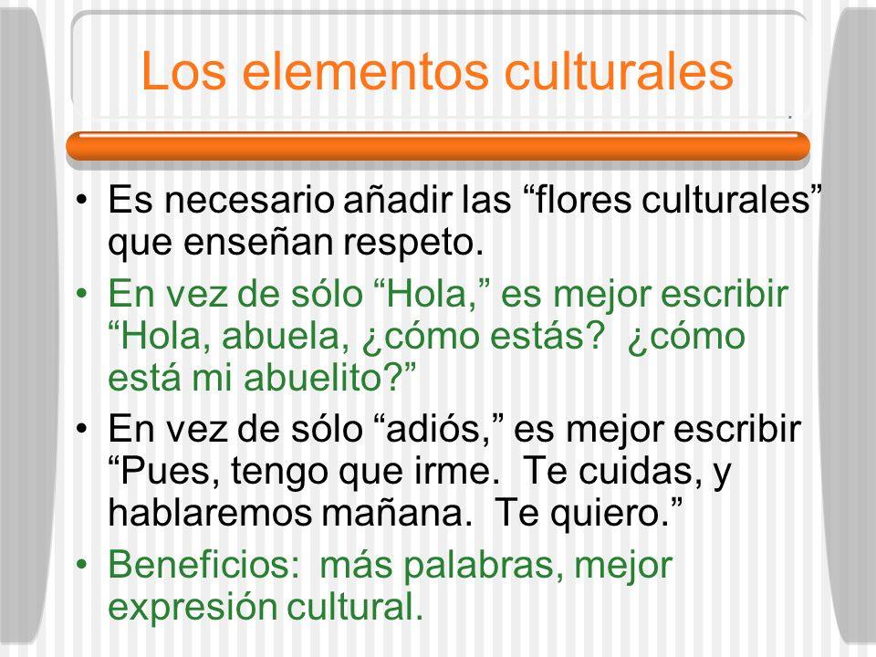 Los elementos culturales