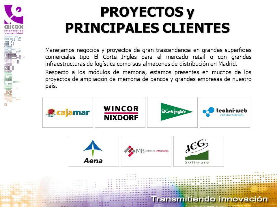 PROYECTOS y PRINCIPALES CLIENTES