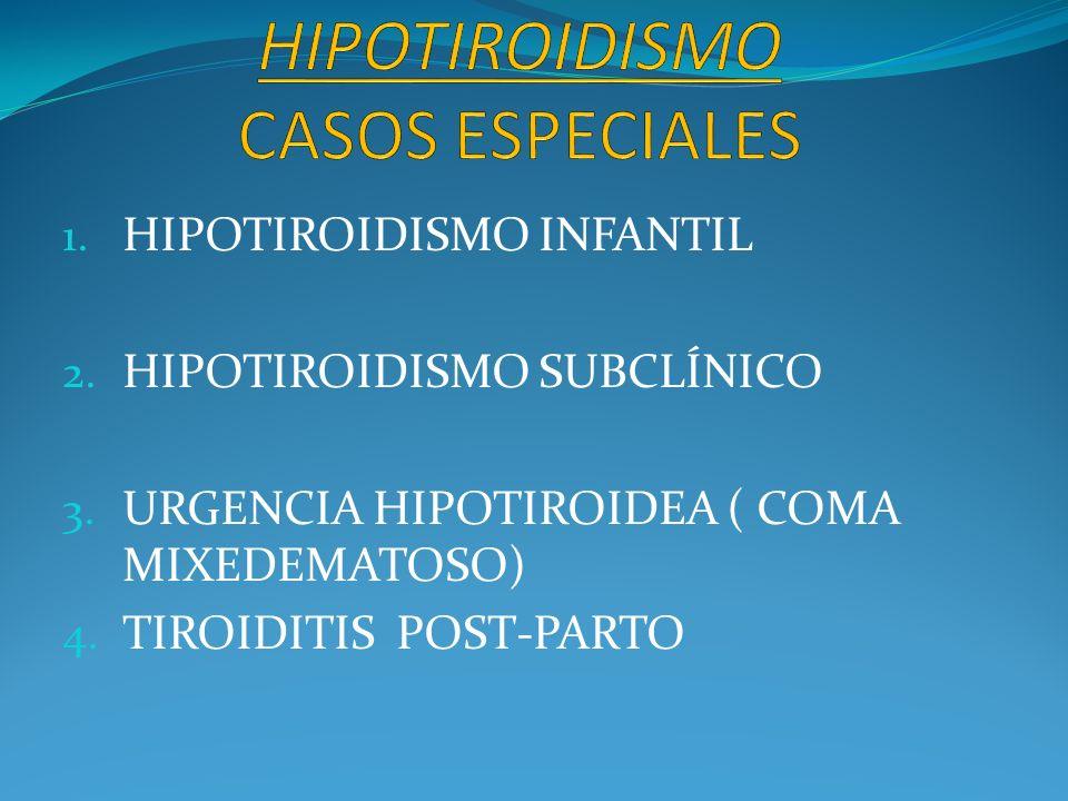 HIPOTIROIDISMO CASOS ESPECIALES