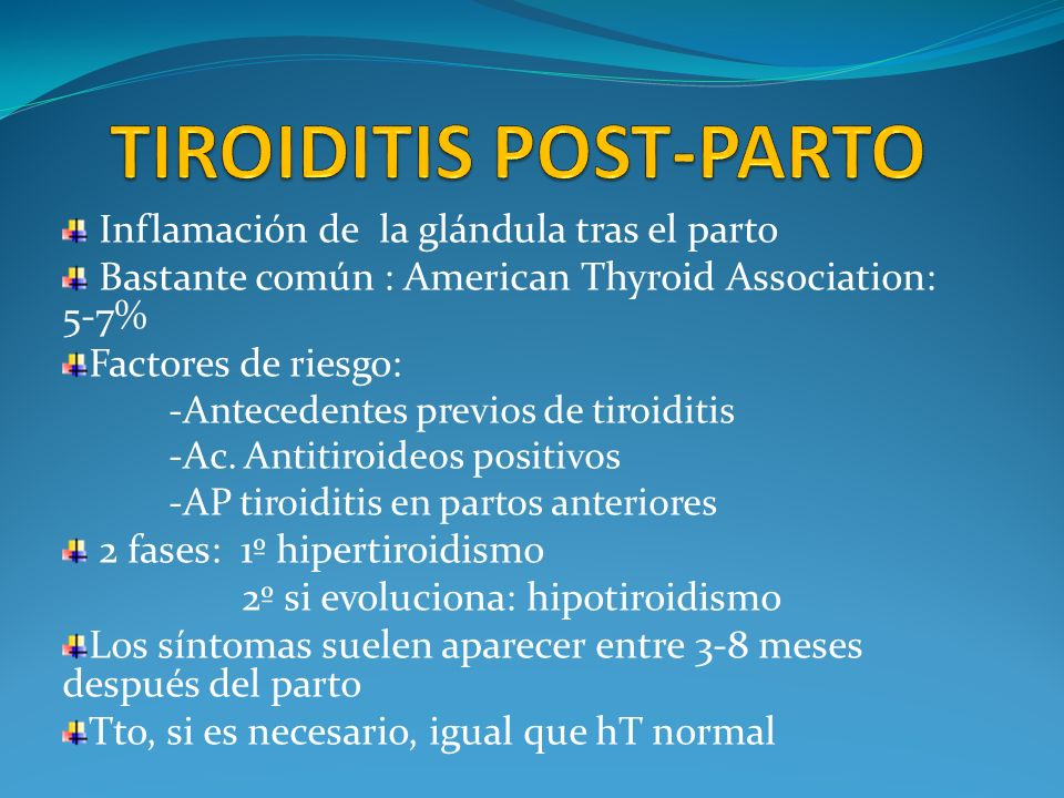 TIROIDITIS POST-PARTO