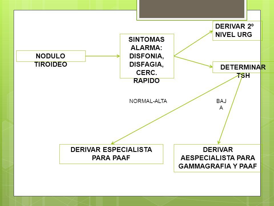 SINTOMAS ALARMA: DISFONIA, DISFAGIA, CERC. RAPIDO