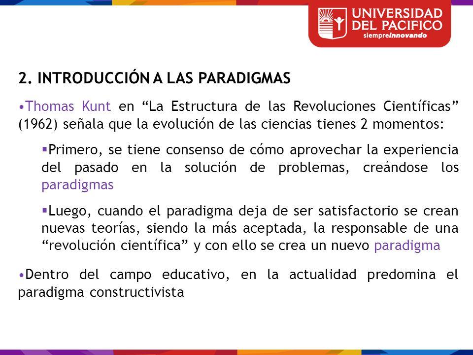 2. INTRODUCCIÓN A LAS PARADIGMAS