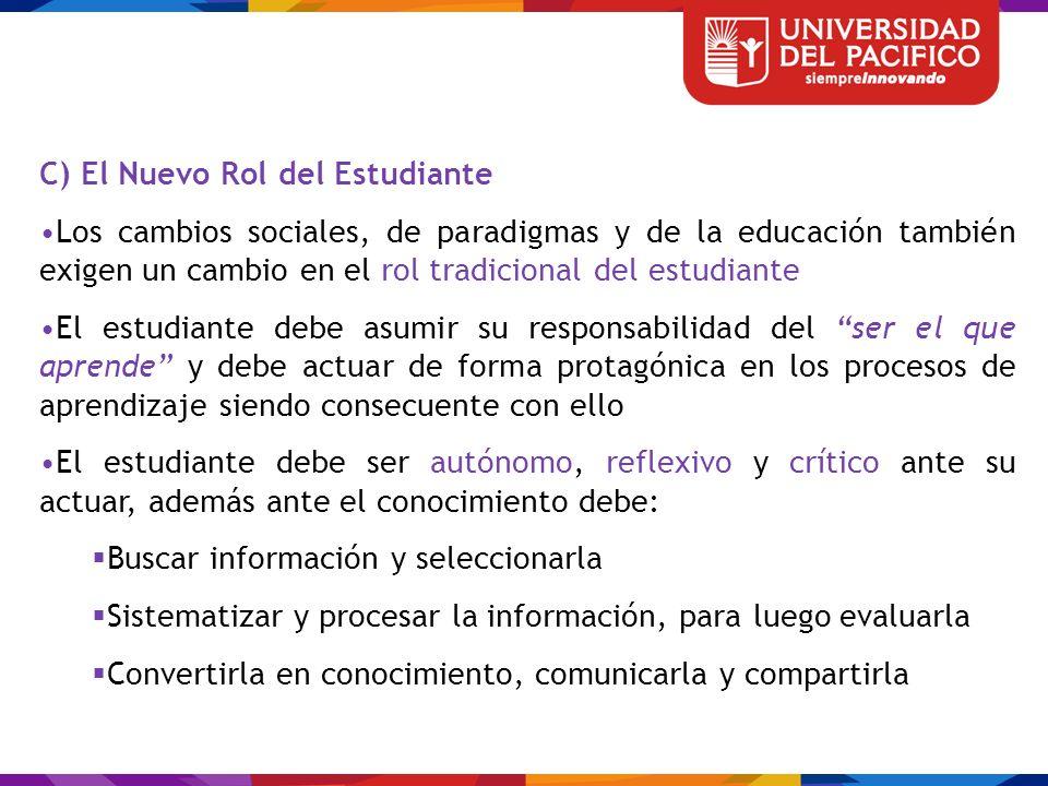 C) El Nuevo Rol del Estudiante