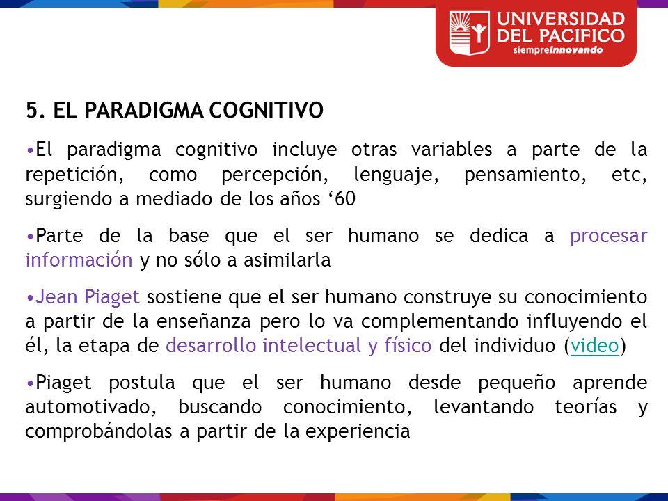 5. EL PARADIGMA COGNITIVO