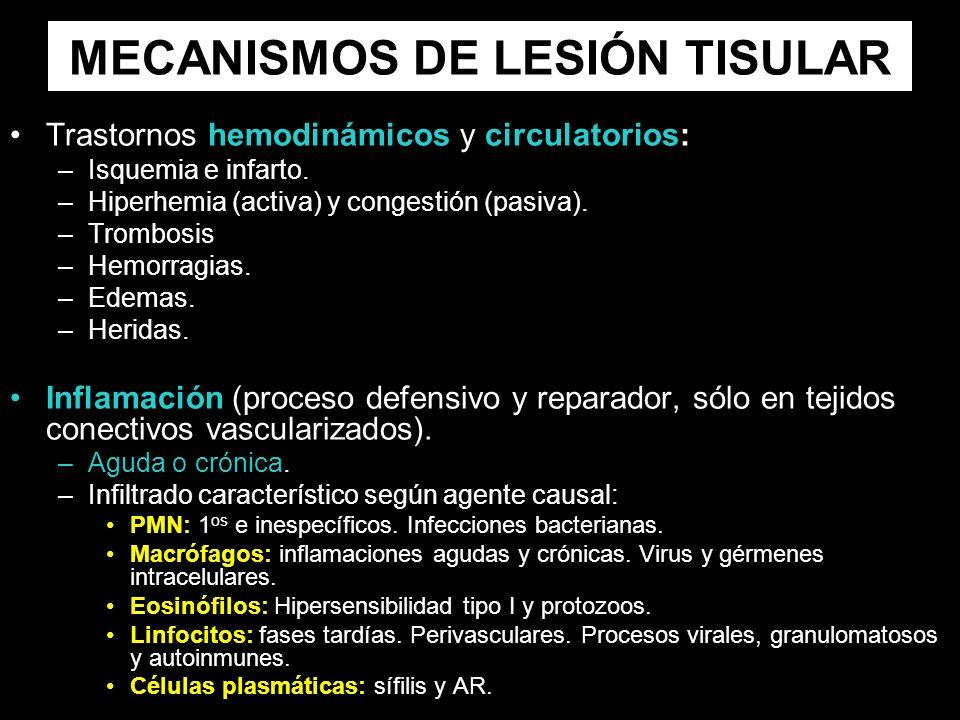 MECANISMOS DE LESIÓN TISULAR