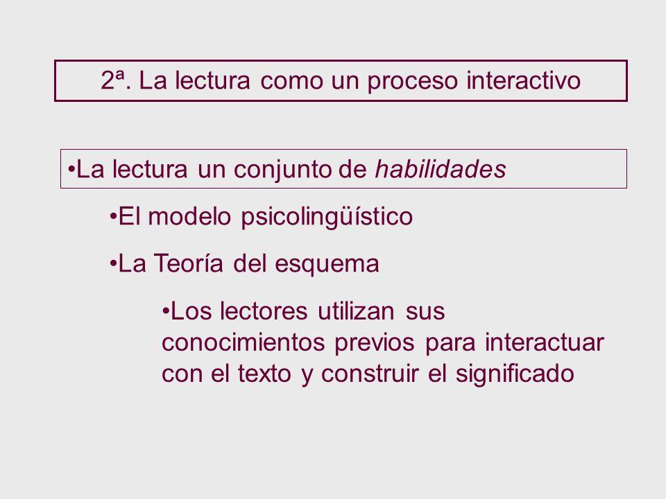 2ª. La lectura como un proceso interactivo