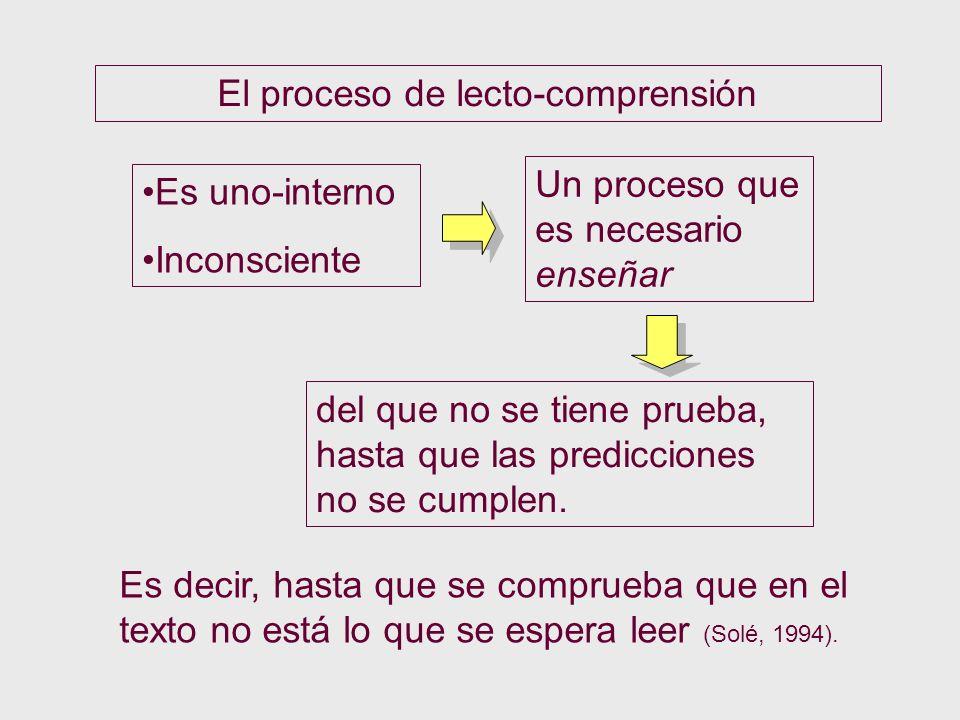 El proceso de lecto-comprensión
