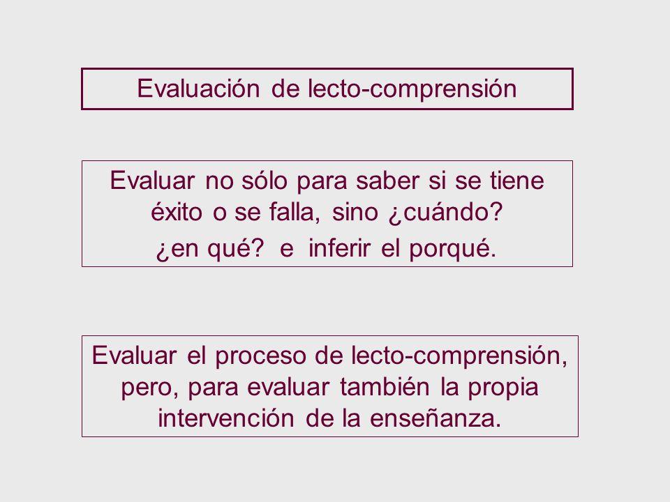 Evaluación de lecto-comprensión