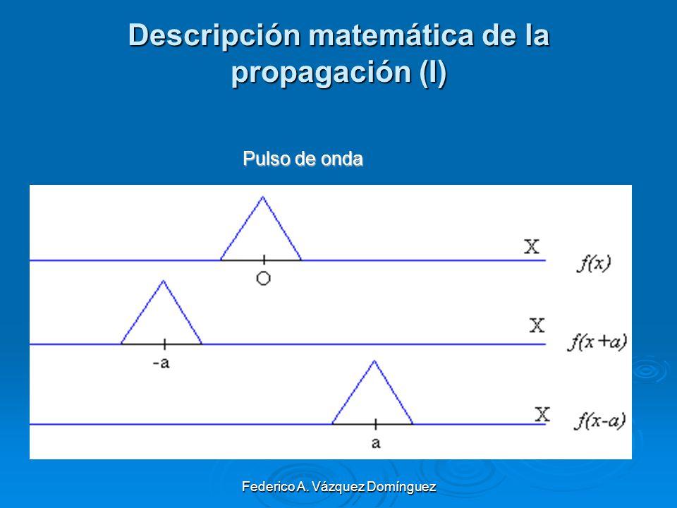 Descripción matemática de la propagación (I)