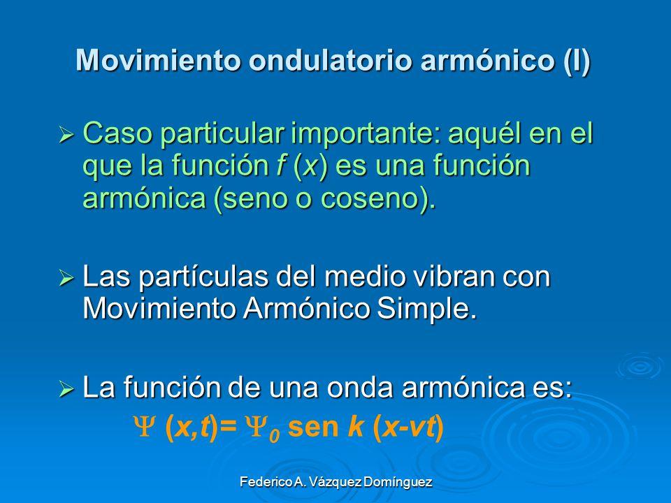 Movimiento ondulatorio armónico (I)