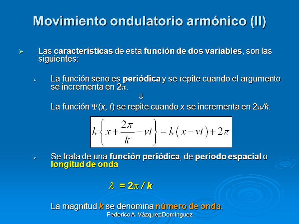 Movimiento ondulatorio armónico (II)