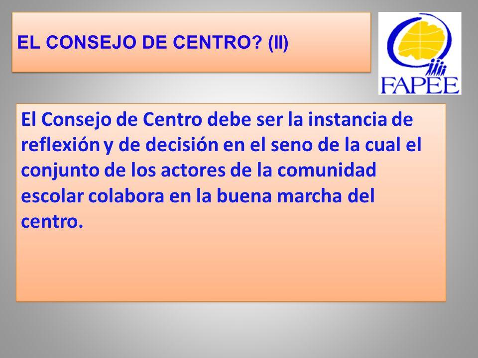 EL CONSEJO DE CENTRO (II)