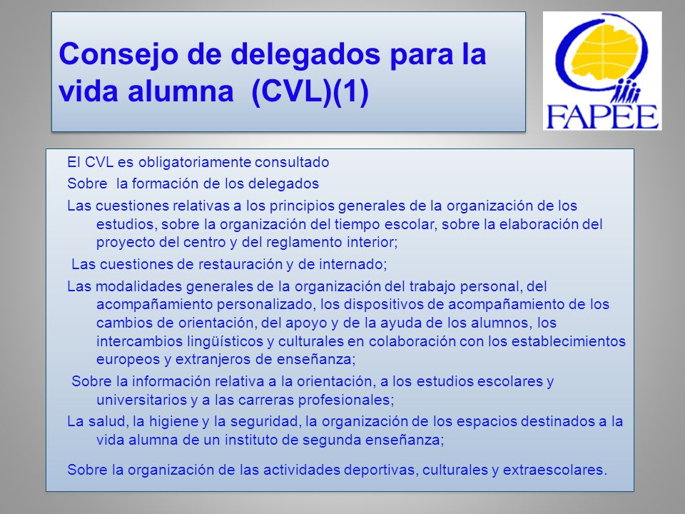 Consejo de delegados para la vida alumna (CVL)(1)