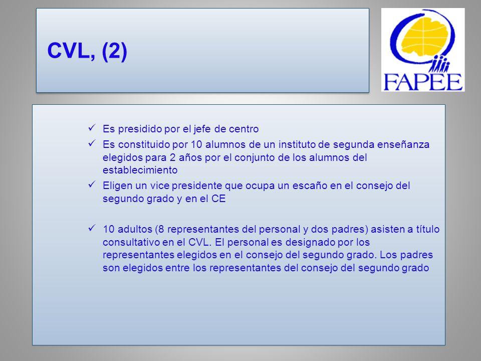 CVL, (2) Es presidido por el jefe de centro