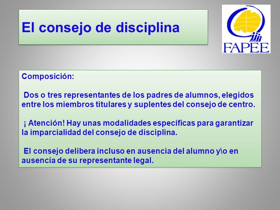 El consejo de disciplina