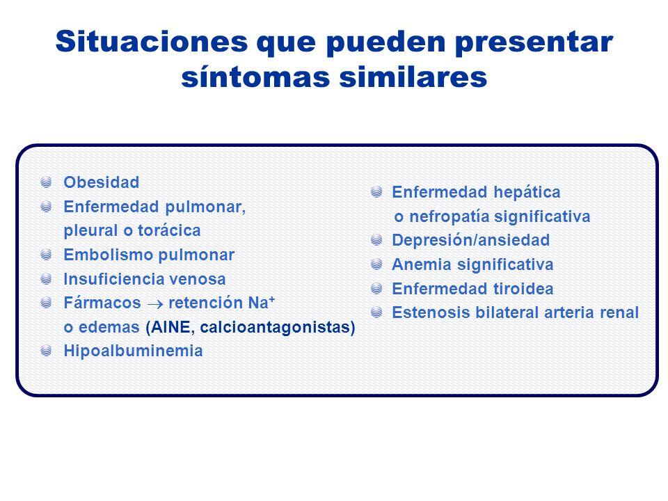 Situaciones que pueden presentar síntomas similares