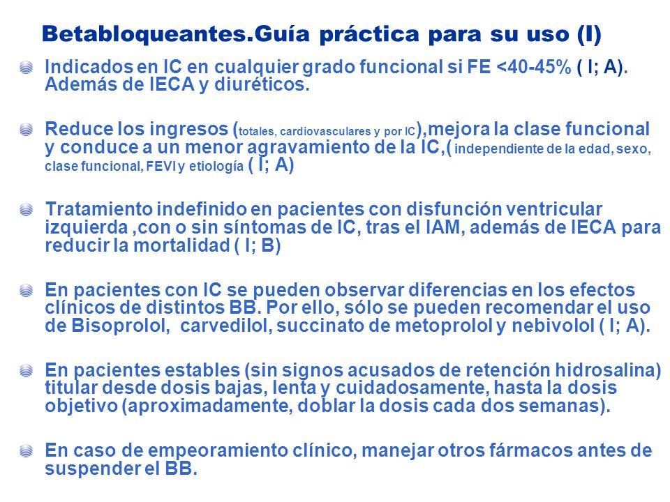 Betabloqueantes.Guía práctica para su uso (I)