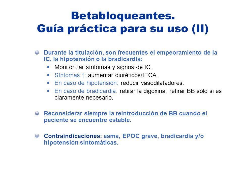 Betabloqueantes. Guía práctica para su uso (II)