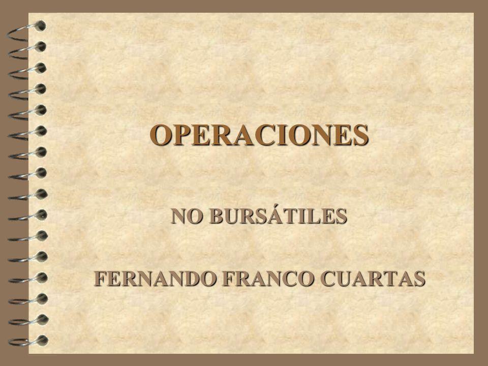 NO BURSÁTILES FERNANDO FRANCO CUARTAS