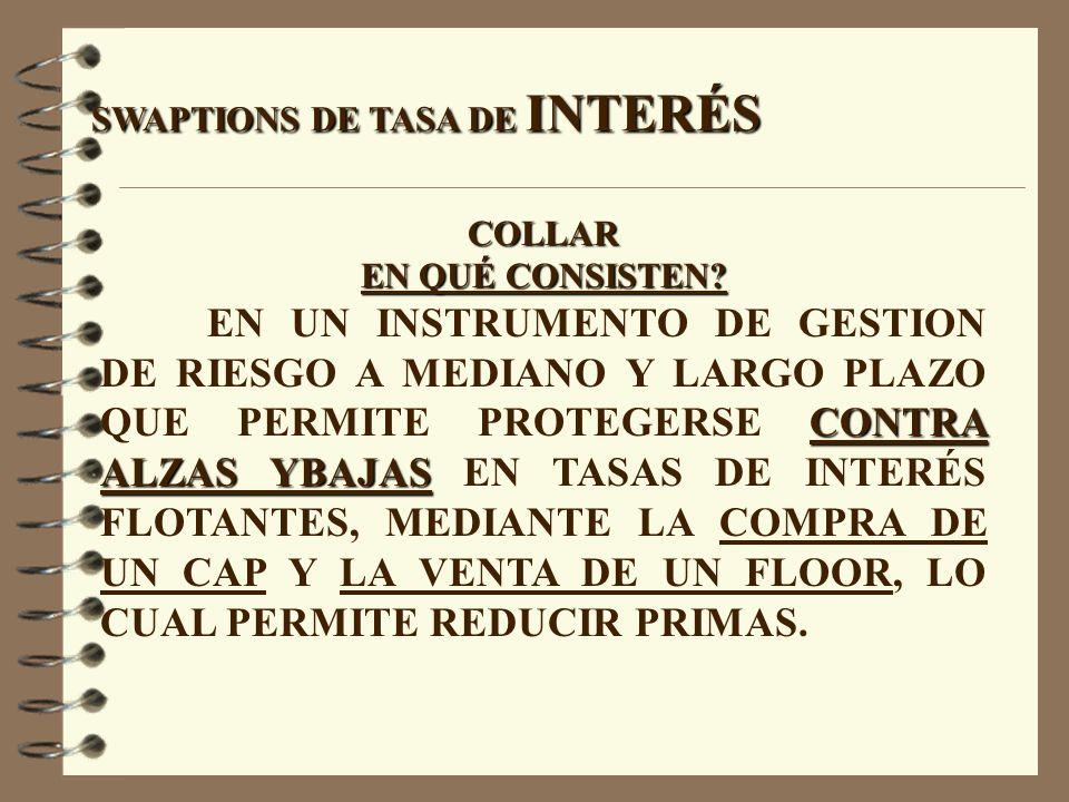 SWAPTIONS DE TASA DE INTERÉS