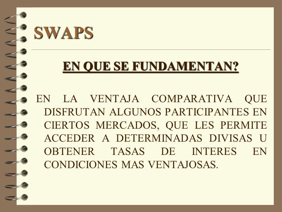 SWAPS EN QUE SE FUNDAMENTAN